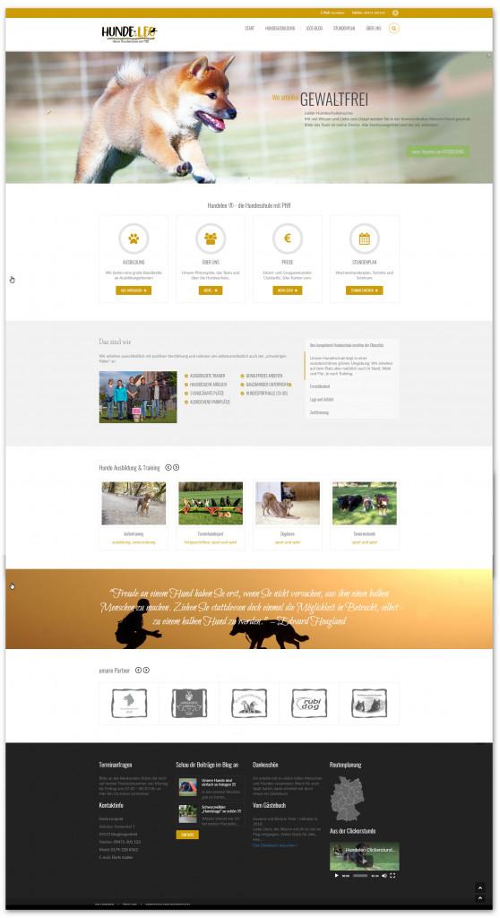 Screenshot der neuen Hundeleo Webseite