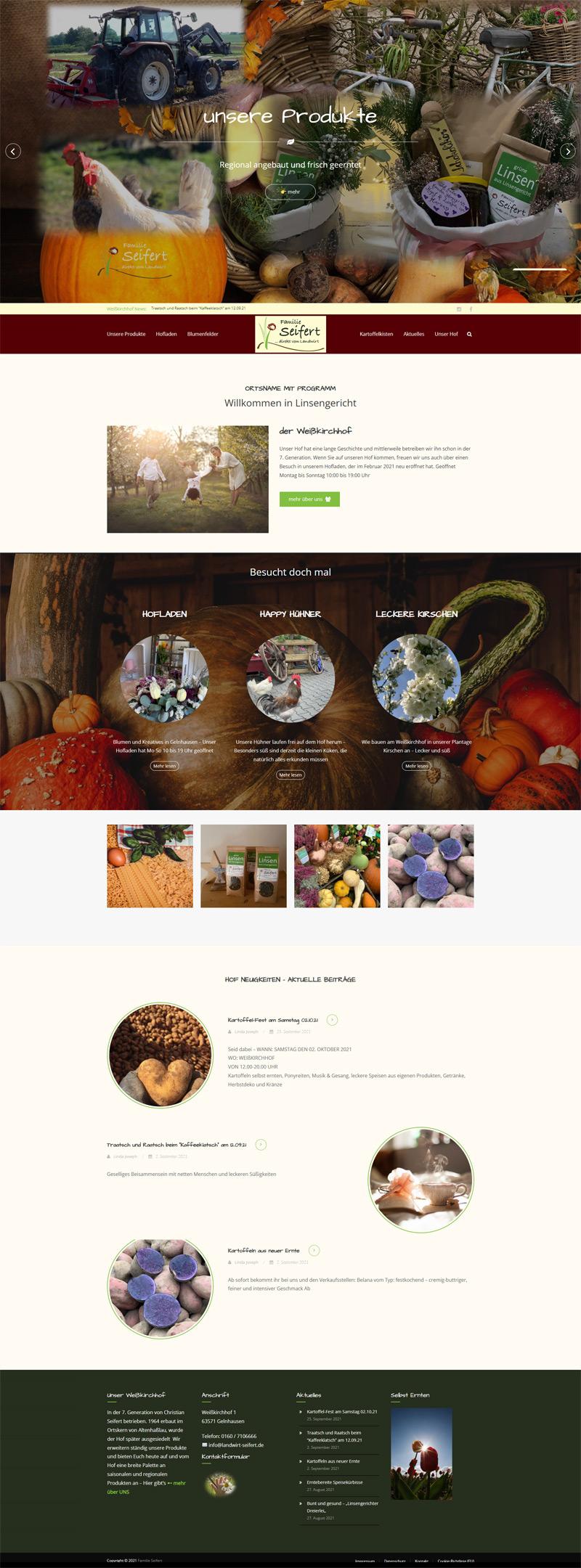 Homepage Landwirt Seifert